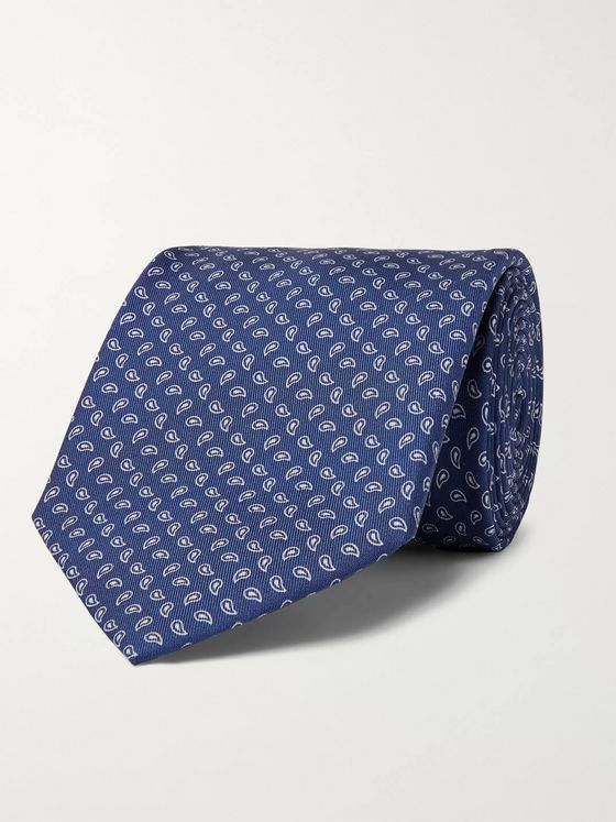 Anderson & Sheppard 8cm Paisley-Print Silk-Twill Tie