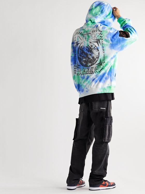 MCQ Unity Appliquéd Tie-Dyed Loopback Cotton-Jersey Hoodie