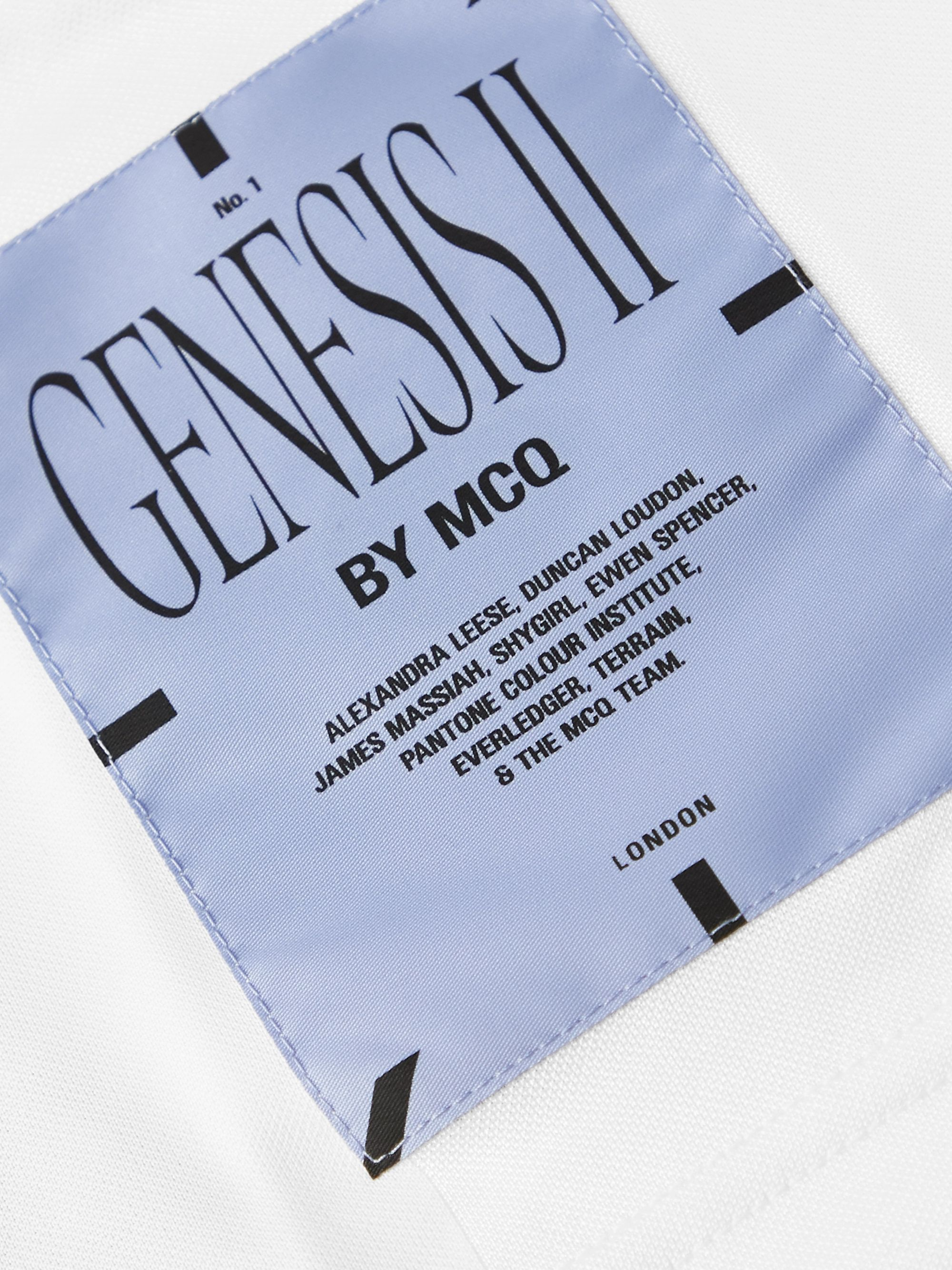 MCQ Appliquéd Panelled Mesh and Stretch-Jersey T-Shirt