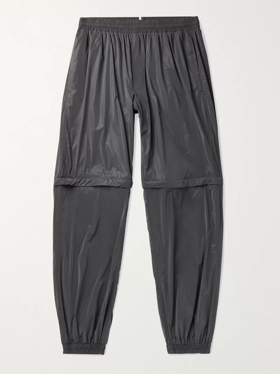 MCQ Slim-Fit Tapered Iridescent Nylon Convertible Track Pants