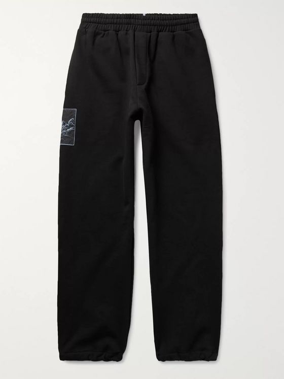 MCQ Appliquéd Loopback Cotton-Jersey Sweatpants