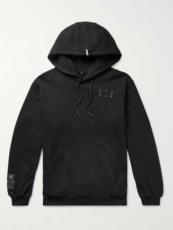 MCQ Appliquéd Printed Loopback Cotton-Jersey Hoodie