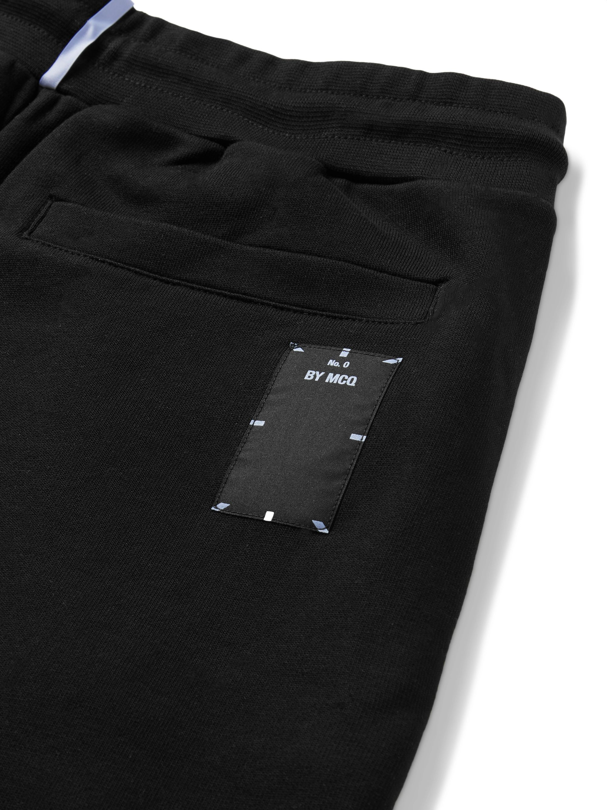 MCQ Tapered Appliquéd Loopback Cotton-Jersey Sweatpants
