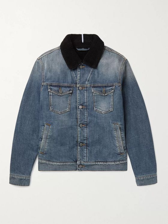 MCQ Faux Shearling-Lined Denim Jacket