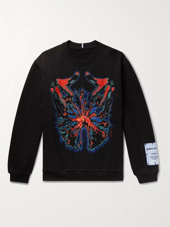 MCQ Printed Loopback Cotton-Jersey Sweatshirt