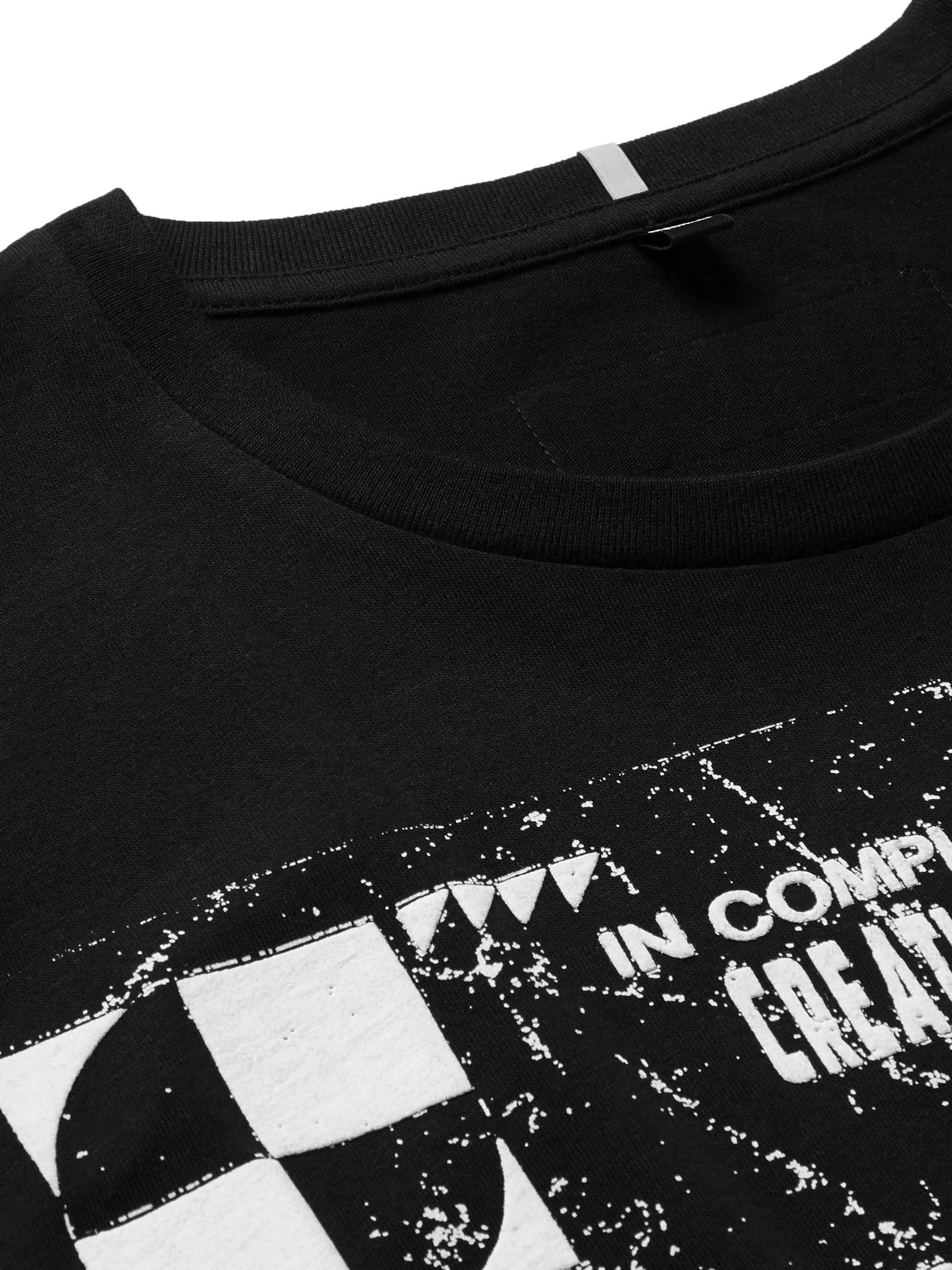 MCQ Appliquéd Printed Cotton-Jersey T-Shirt