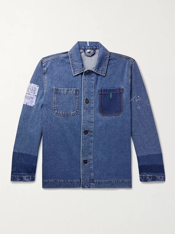 MCQ Appliquéd Embroidered Denim Jacket