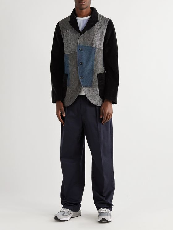 Comme des Garçons SHIRT Patchwork Cotton-Corduroy and Wool Blazer