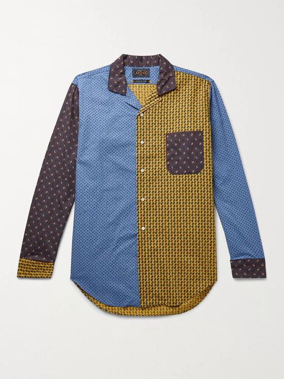 BEAMS PLUS Patchwork Paisley-Print Cotton-Poplin Shirt