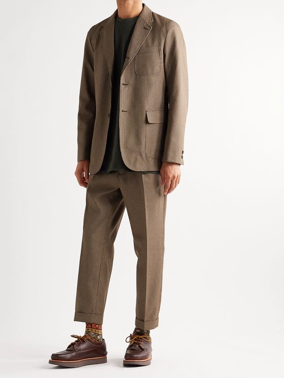 BEAMS PLUS Puppytooth Tweed Suit Jacket