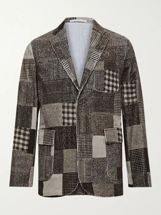 Beams Plus Patchwork Cotton-Blend Corduroy Blazer