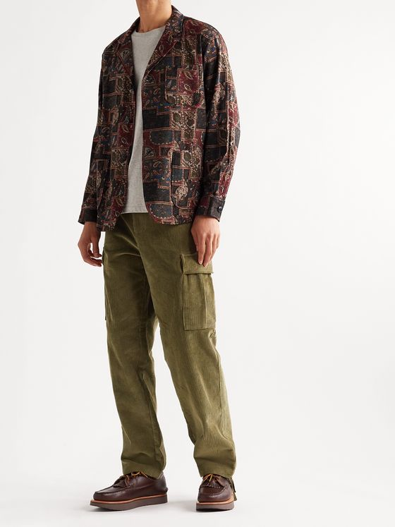 Beams Plus Unstructured Paisley-Print Wool-Blend Blazer