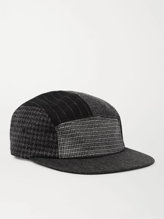 Beams Plus Patchwork Wool-Blend Baseball Cap