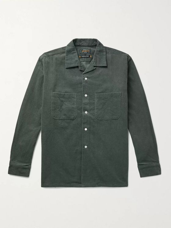 BEAMS PLUS Camp-Collar Cotton-Corduroy Shirt