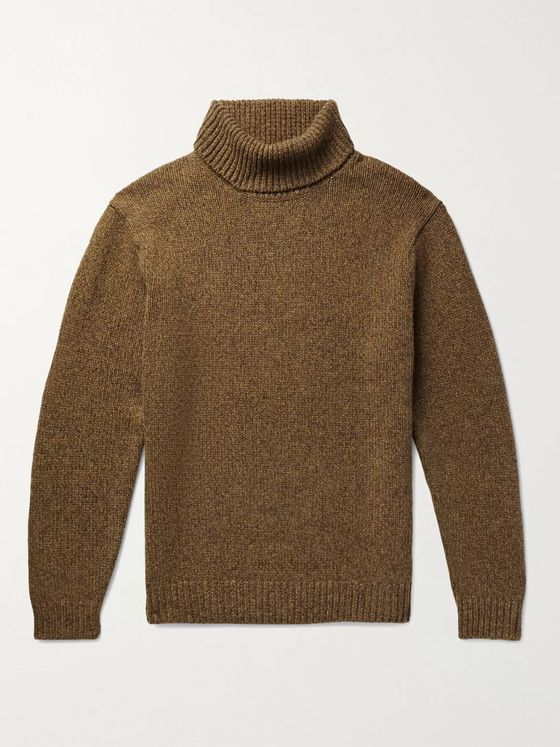 Beams Plus Melangé Wool and Cashmere-Blend Rollneck Sweater