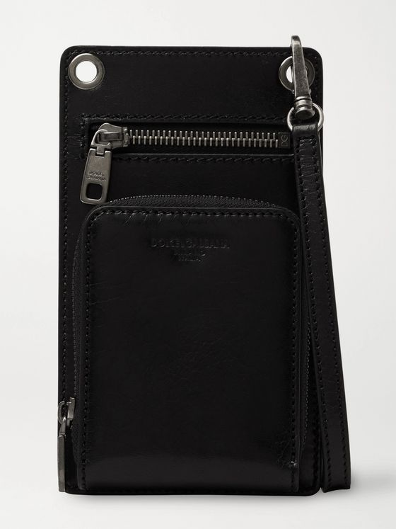 Dolce & Gabbana Leather Phone Pouch
