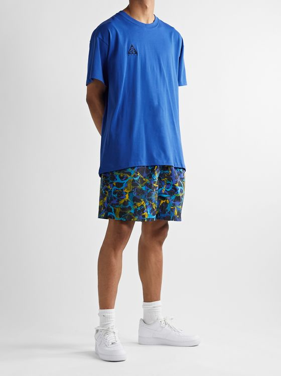 Nike ACG NRG Logo-Embroidered Cotton-Jersey T-Shirt