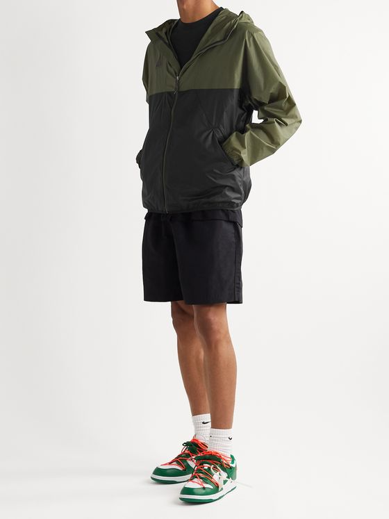NIKE ACG NRG Logo-Embroidered Colour-Block Nylon-Ripstop Hooded Jacket