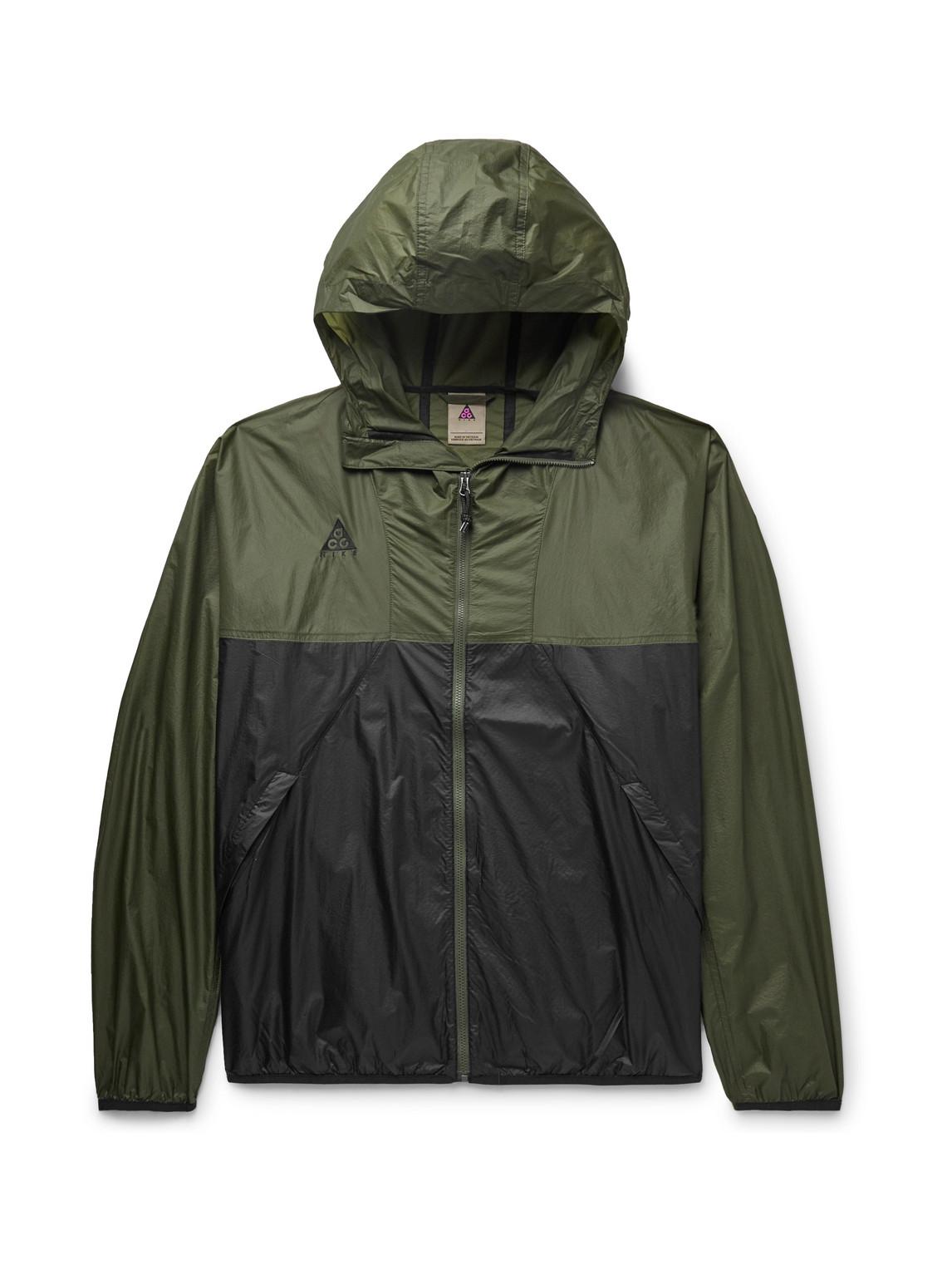 Nike - Acg Nrg Logo-Embroidered Colour-Block Nylon-Ripstop Hooded Jacket - Men - Black - Xl