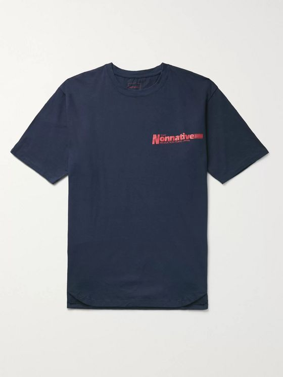 nonnative Factory Logo-Print Cotton-Jersey T-Shirt