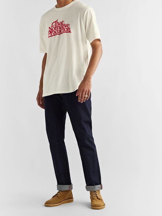 nonnative Team Logo-Print Cotton-Jersey T-Shirt
