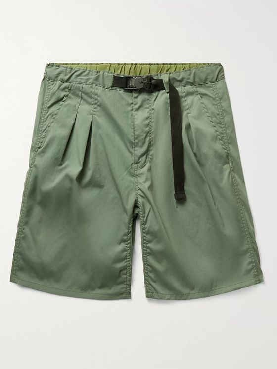 nonnative Explorer Belted Pleated COOLMAX Poplin Shorts