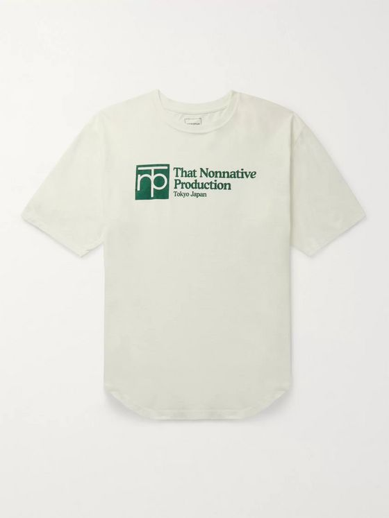 nonnative University Logo-Print Cotton-Jersey T-Shirt
