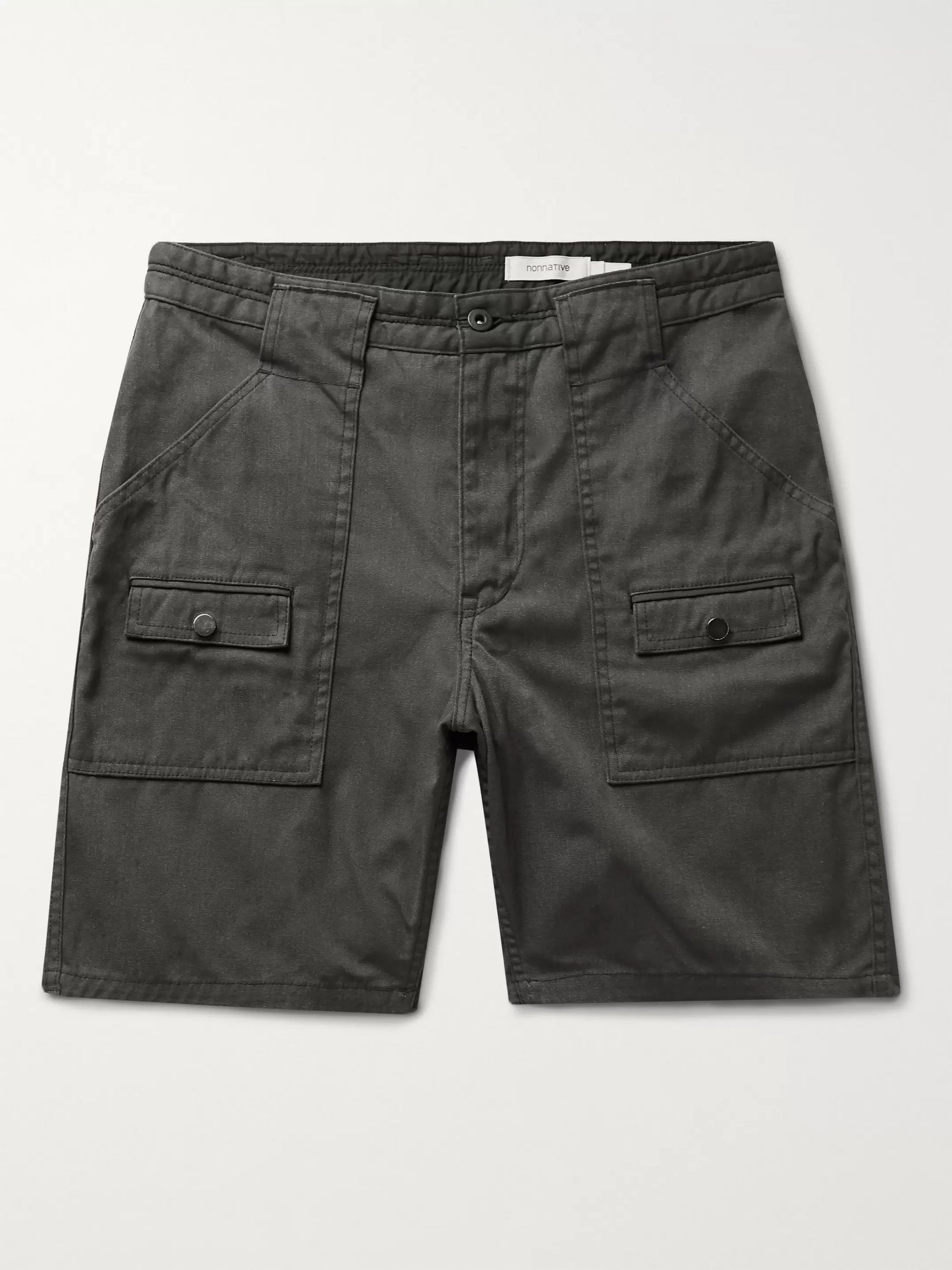 nonnative Worker Cotton-Blend Oxford Cargo Shorts