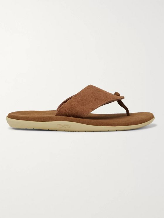 nonnative + Island Slipper Officer Suede Flip Flops