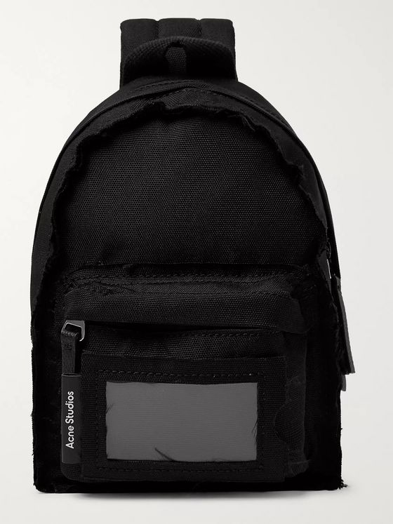 ACNE STUDIOS Mini Leather-Trimmed Canvas Backpack