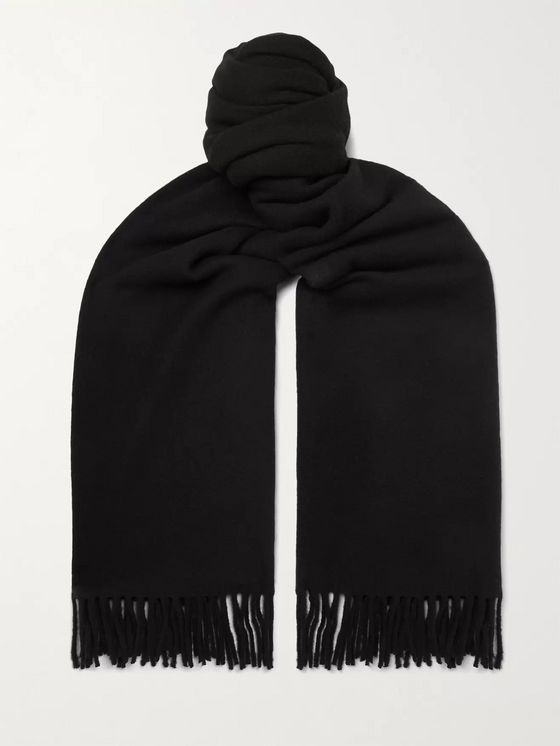 ACNE STUDIOS Oversized Fringed Wool Scarf