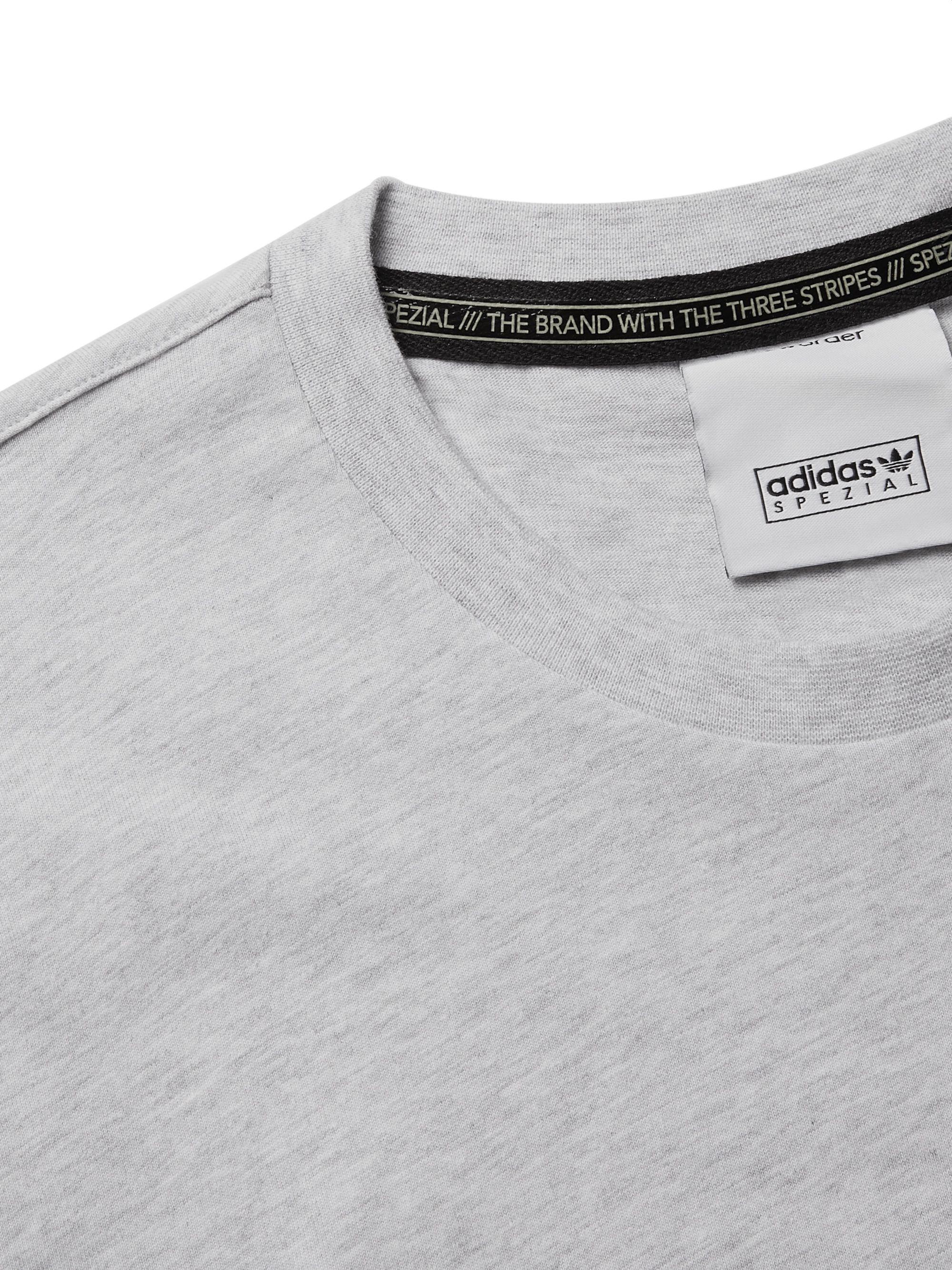 Gray + New Order Spezial Printed Cotton-jersey T-shirt | Adidas Consortium