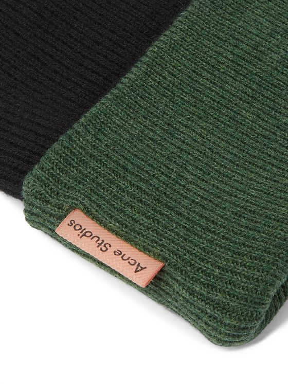 Acne Studios Reversible Colour-Block Wool Beanie