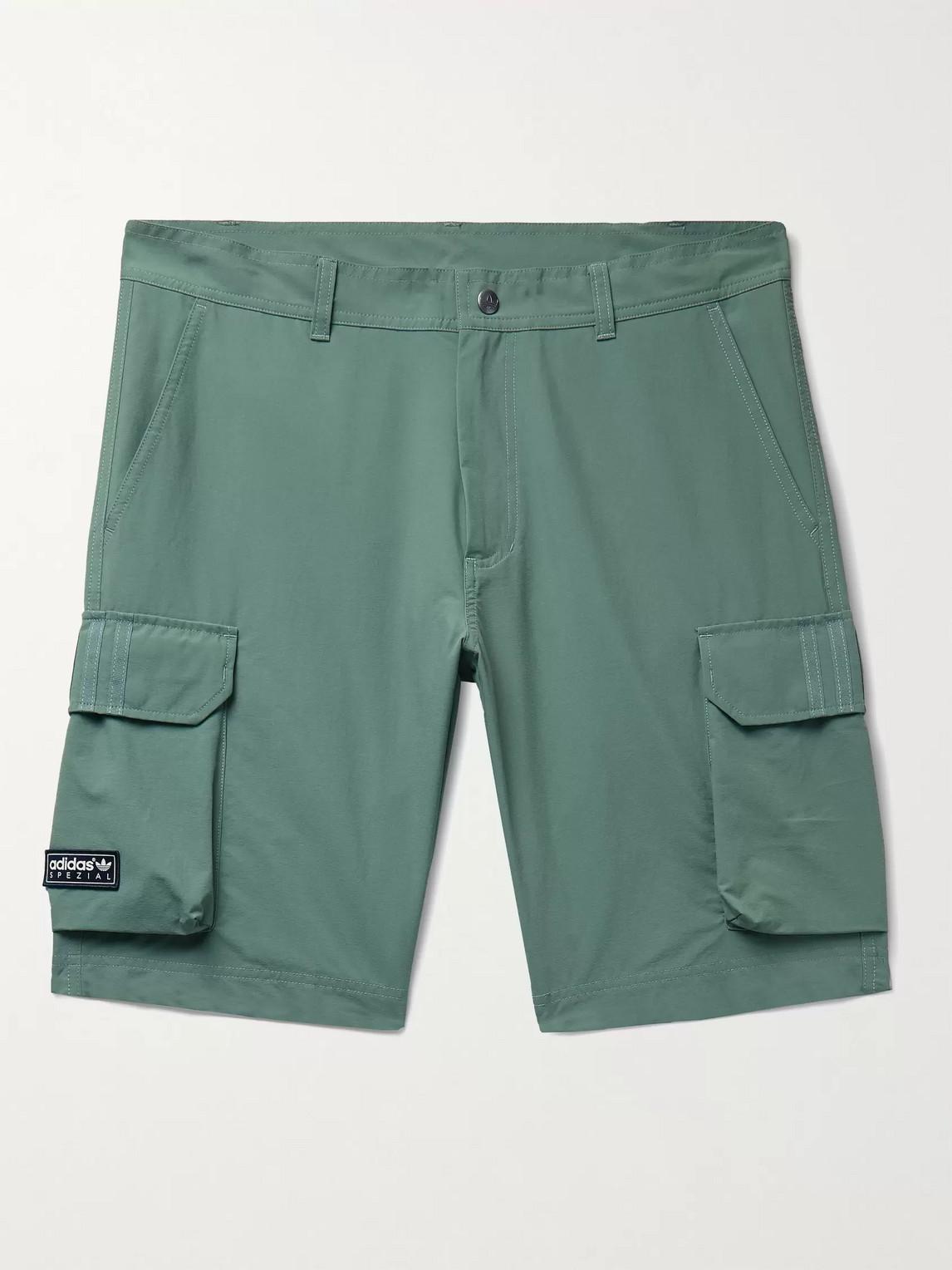 Adidas Consortium Spezial Standish Shell Cargo Shorts In Green