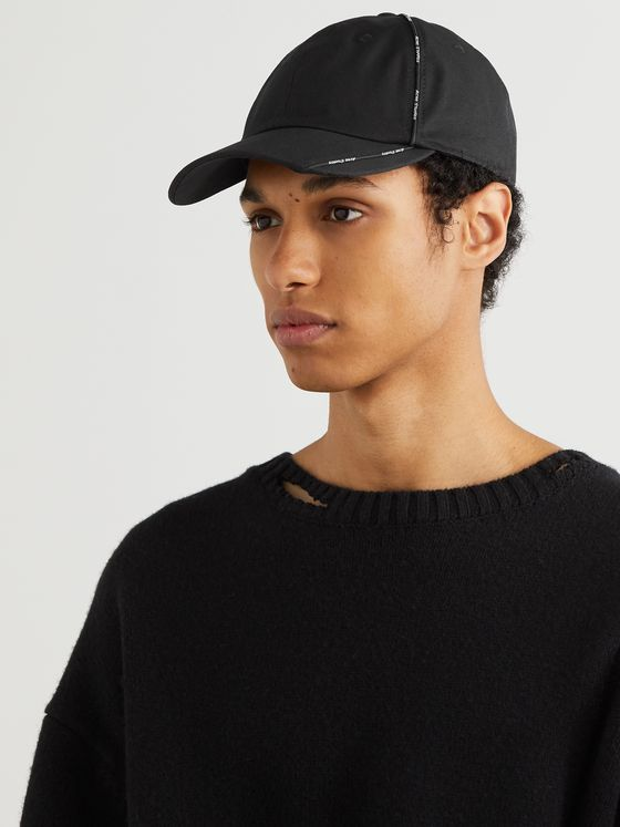 ACNE STUDIOS Logo-Piped Cotton-Canvas Baseball Cap