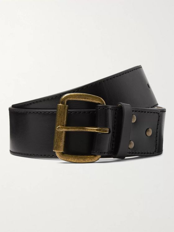 Acne Studios 4cm Textured-Leather Belt
