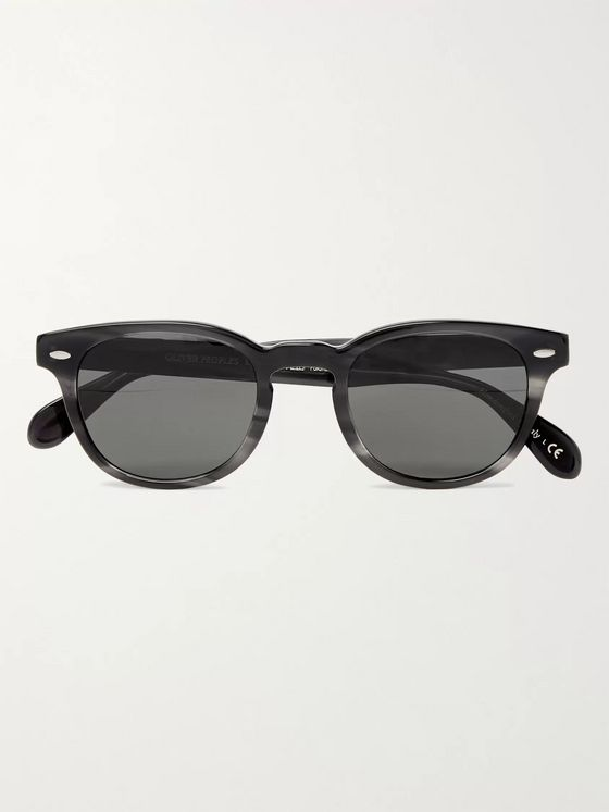 OLIVER PEOPLES Sheldrake Round-Frame Acetate Polarised Sunglasses