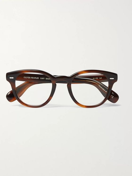 Oliver Peoples Cary Grant Round-Frame Tortoiseshell Acetate Optical Glasses