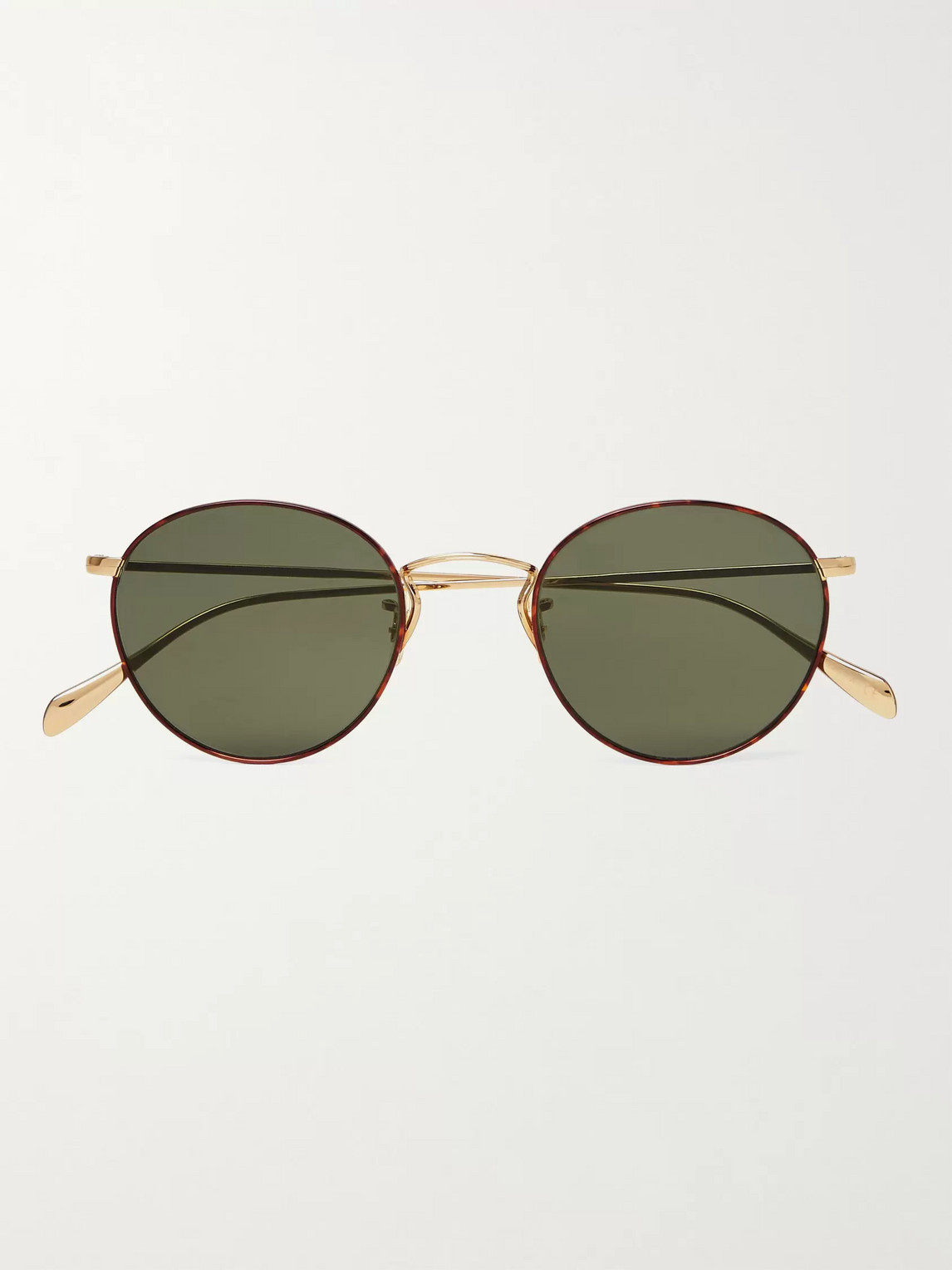 Oliver Peoples Round-frame Tortoiseshell Acetate And Gold-tone Sunglasses