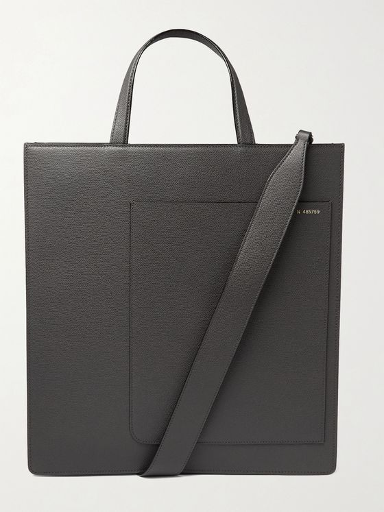 Valextra Pebble-Grain Leather Tote Bag