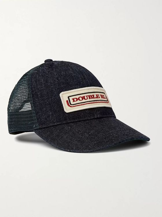 RRL Appliquéd Denim and Mesh Trucker Hat