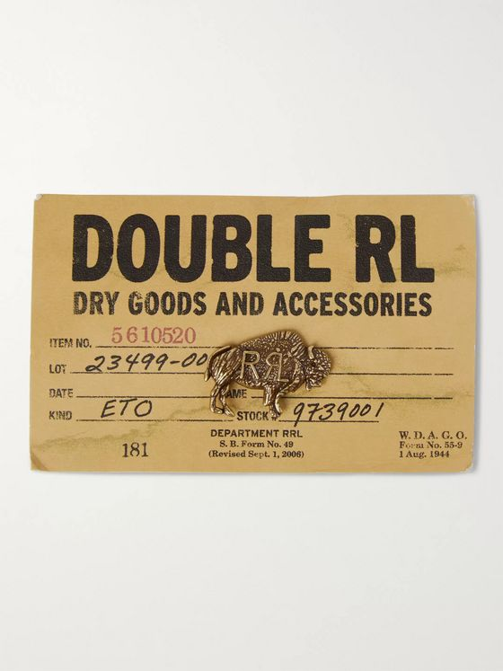 RRL Buffalo Gold-Tone Pin