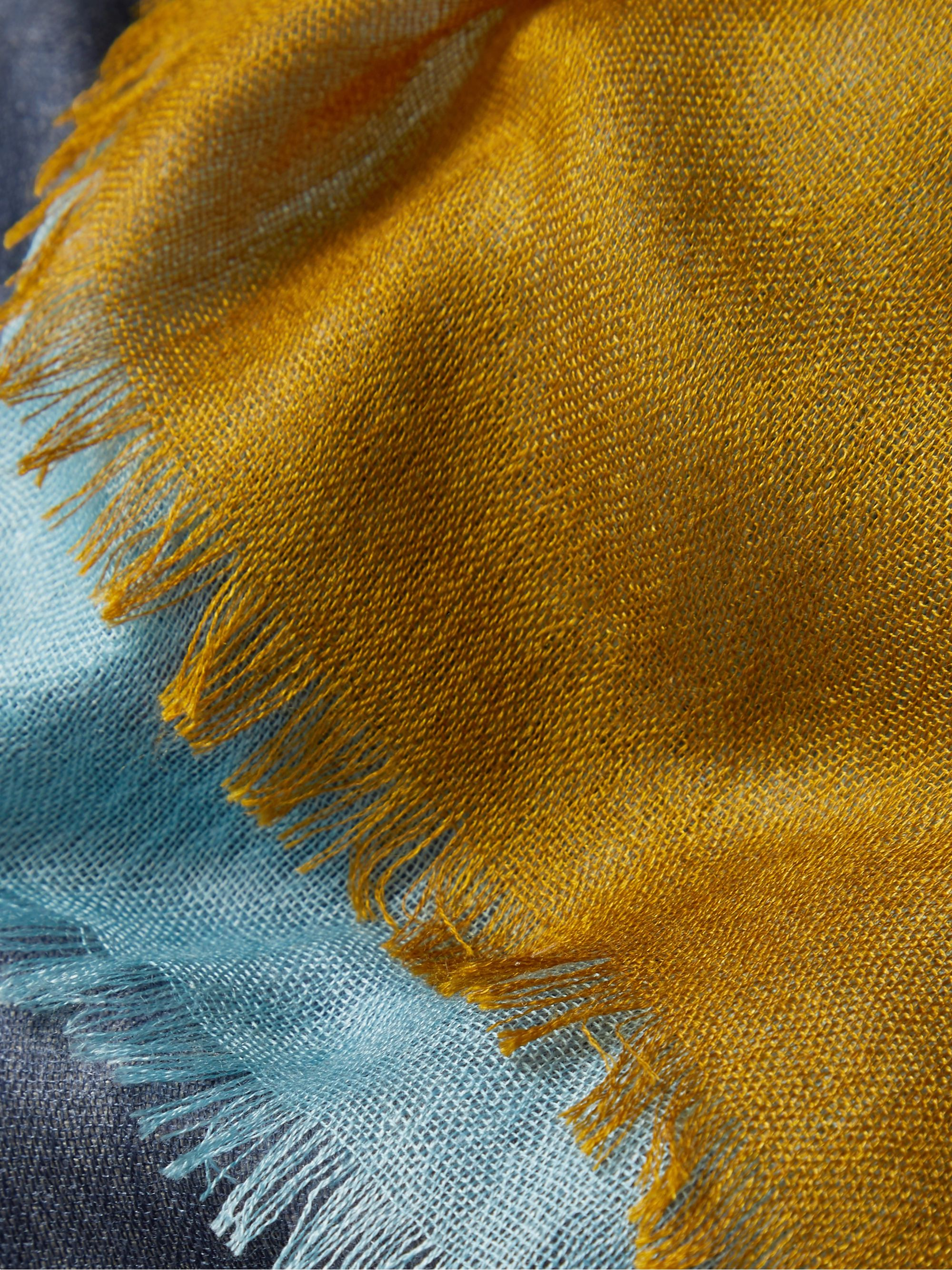 Loro Piana Fringed Colour-Block Cashmere and Silk-Blend Scarf