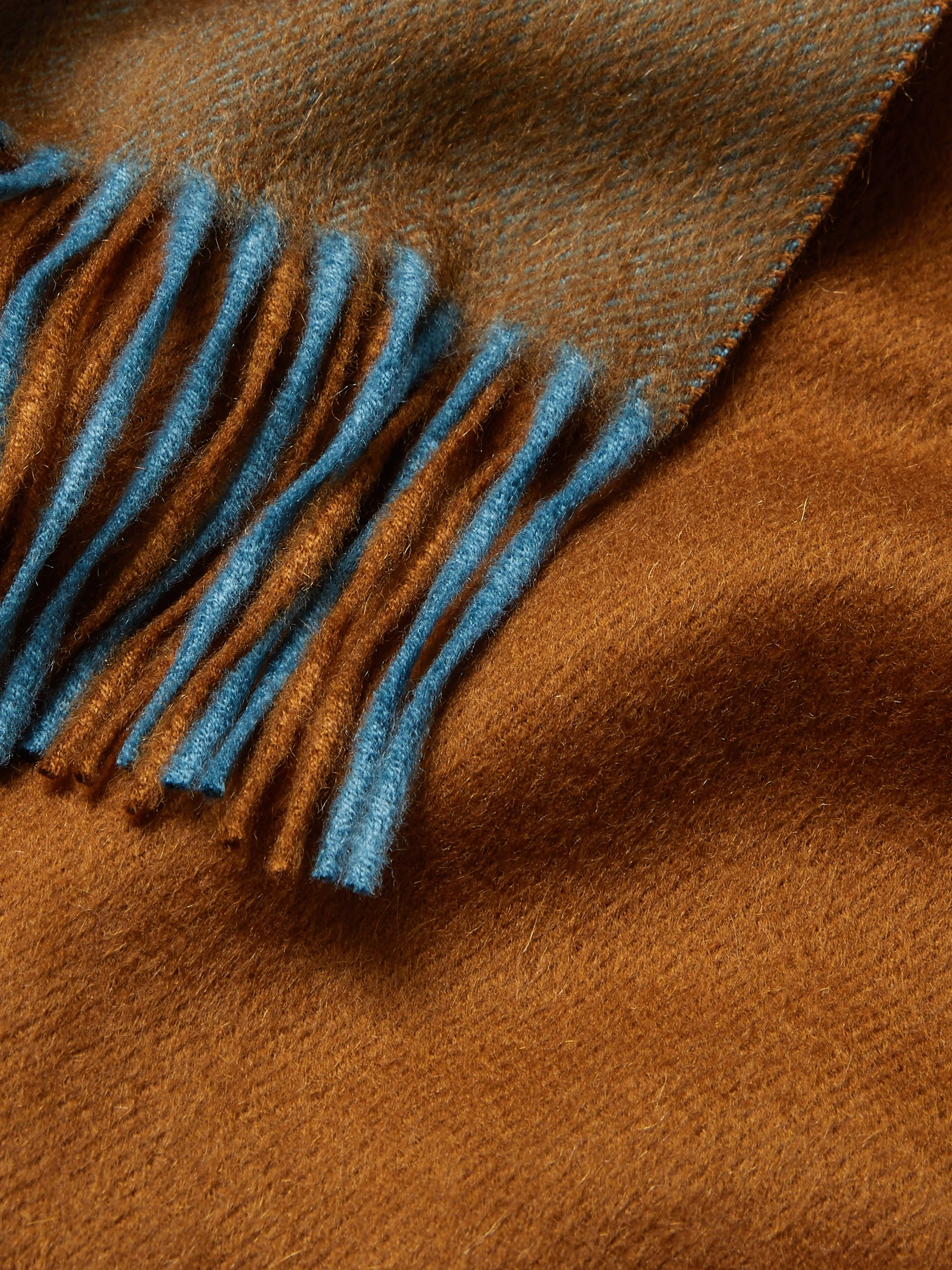 Loro Piana Fringed Colour-Block Cashmere Scarf