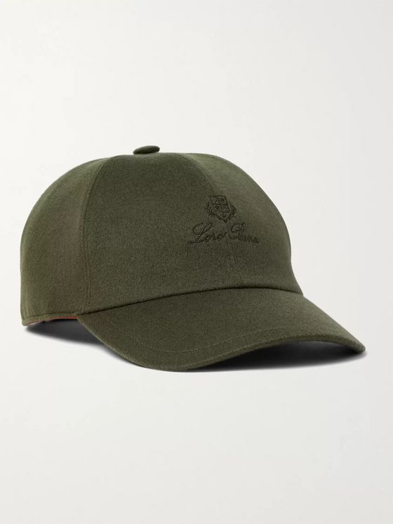 Loro Piana Logo-Embroidered Storm System Cashmere Baseball Cap
