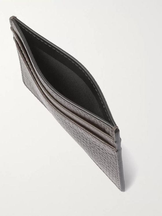 Smythson Full-Grain Leather Cardholder