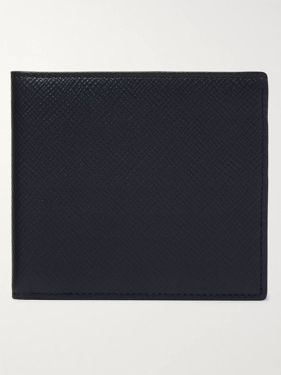 Smythson Cross-Grain Leather Billfold Wallet