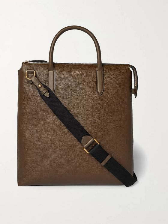Smythson Ludlow North South Full-Grain Leather Tote Bag