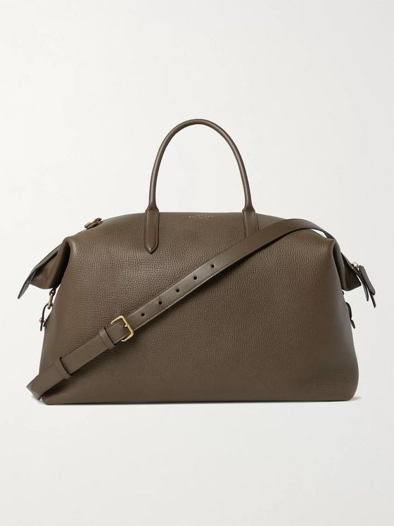 Smythson Ludlow Full-Grain Leather Holdall