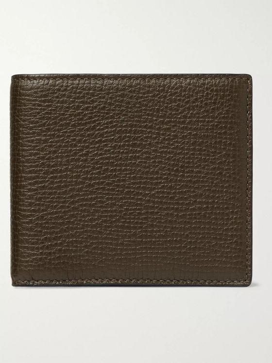 Smythson Full-Grain Leather Billfold Wallet